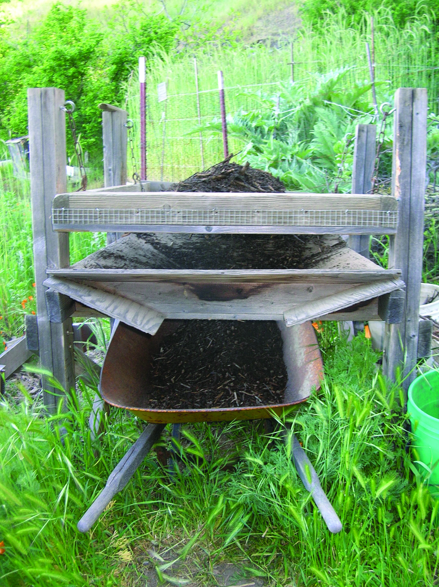 compost sifter idea from ecology action 8 steps to grow
