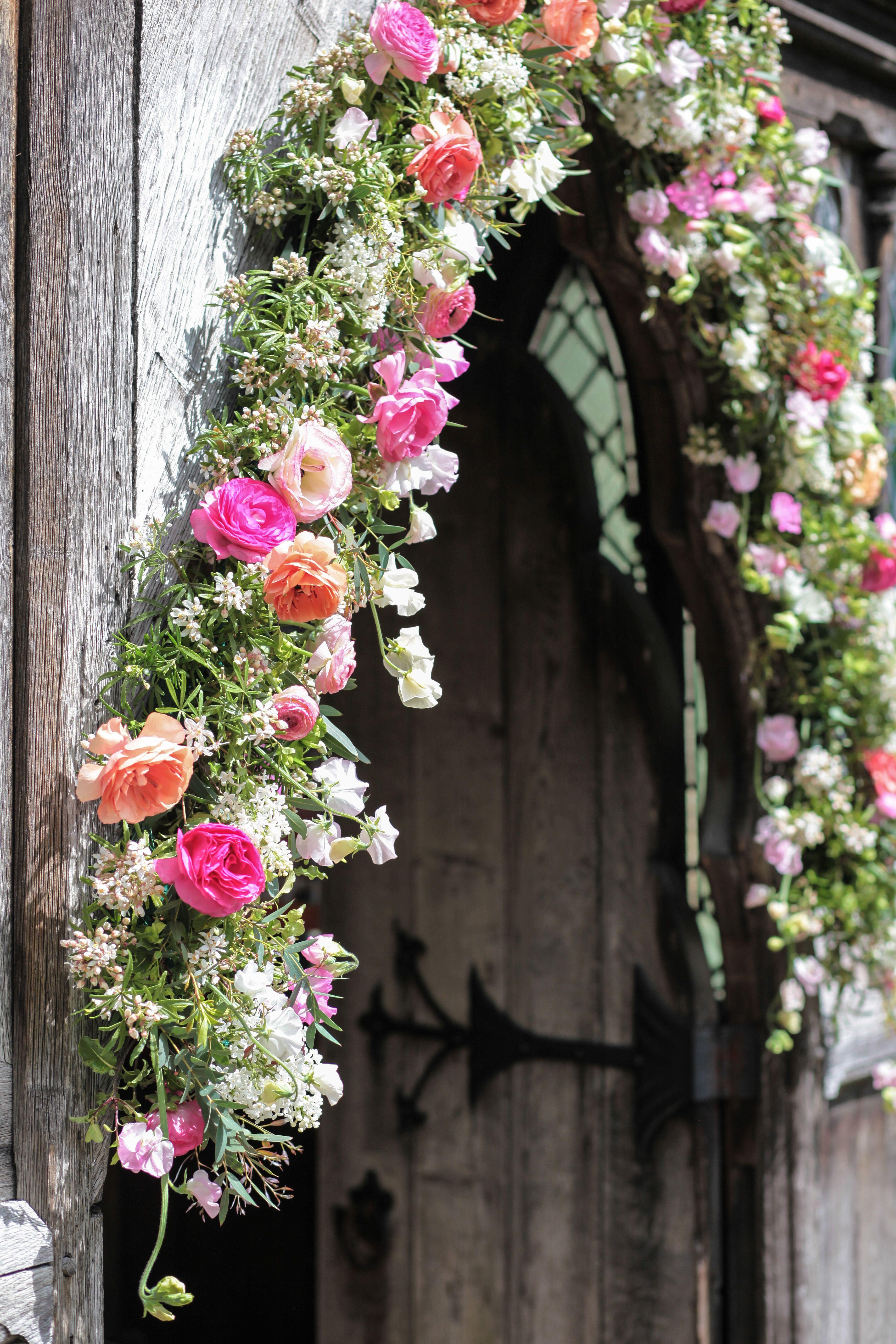 Beginning of May 2019, church garland Diy wedding