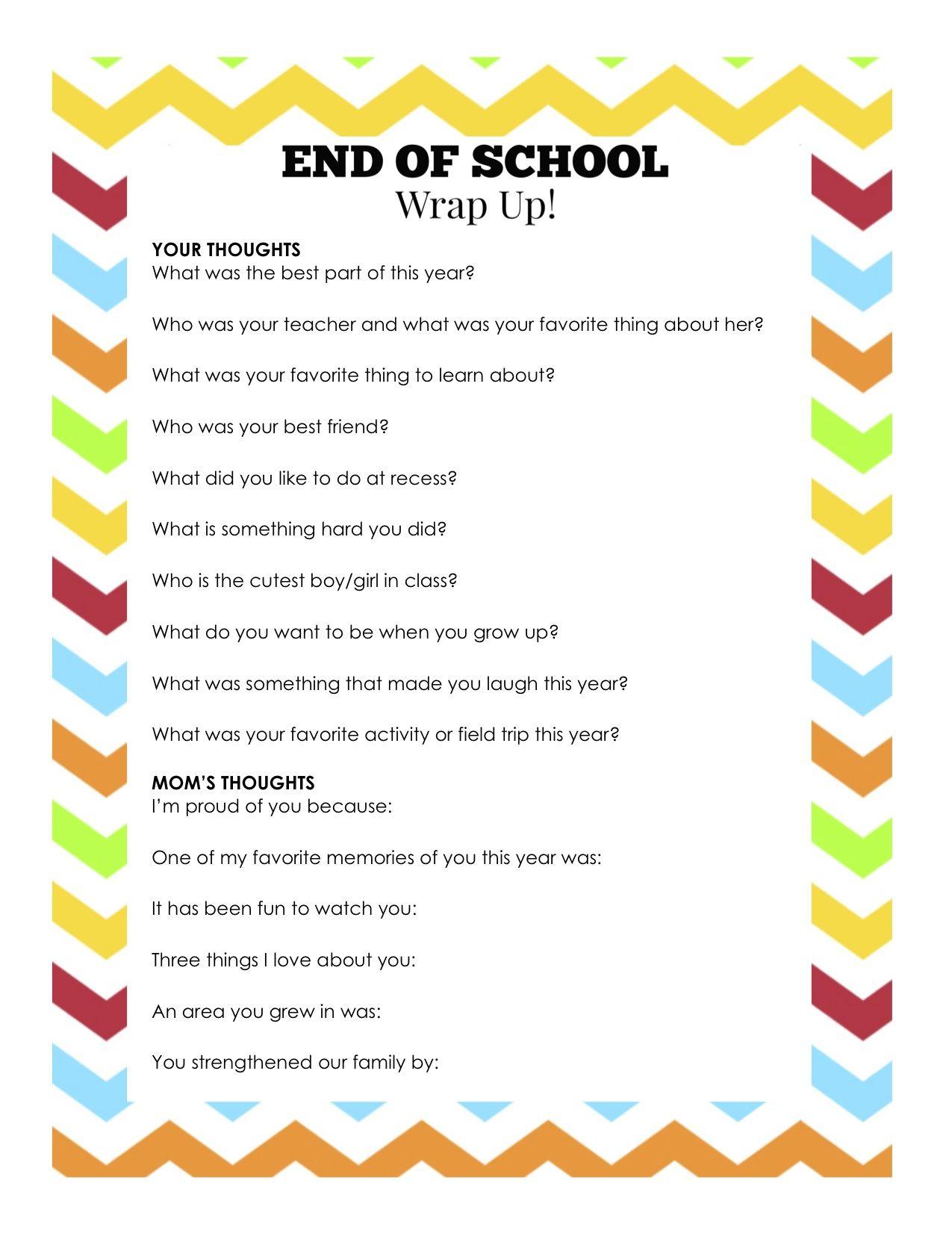 Last Day Of School Printable Signs