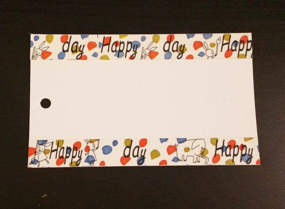 Happy Day Baby Rabbit Polka Dots Red Blue Japanese By Ayakaarts Happy Day Tape Crafts Red Blue