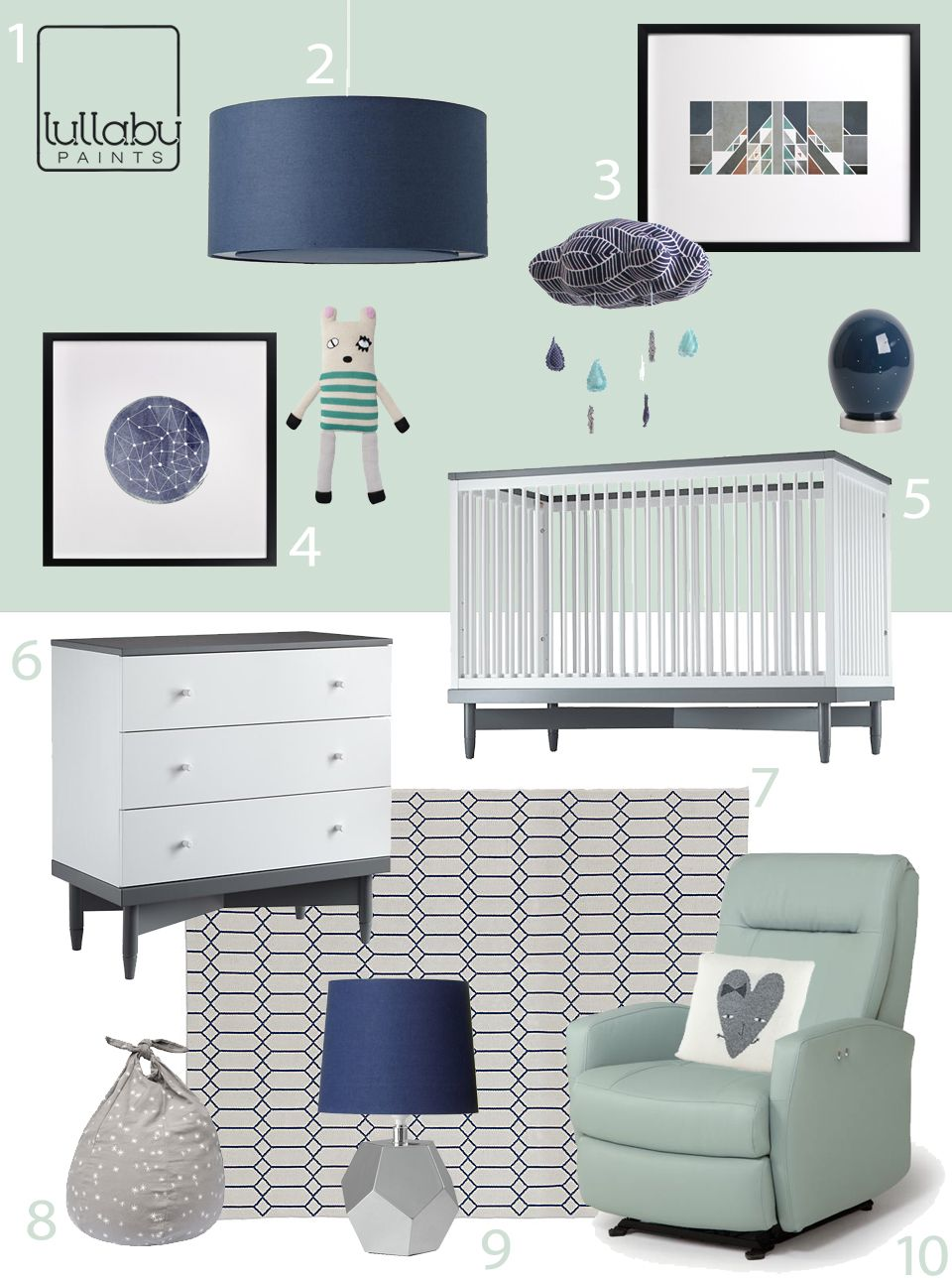 Best My Modern Nursery 71 Cool And Calm In Aqua And Navy 400 x 300