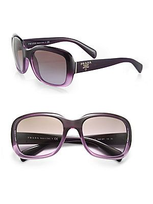 e2312191b02 Gradient  Prada s Oversized Square Glam Sunglasses.  prada  purple ...