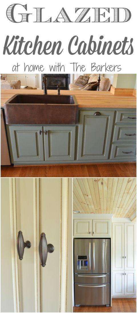 Glazed Kitchen Cabiets-Farmhouse style details