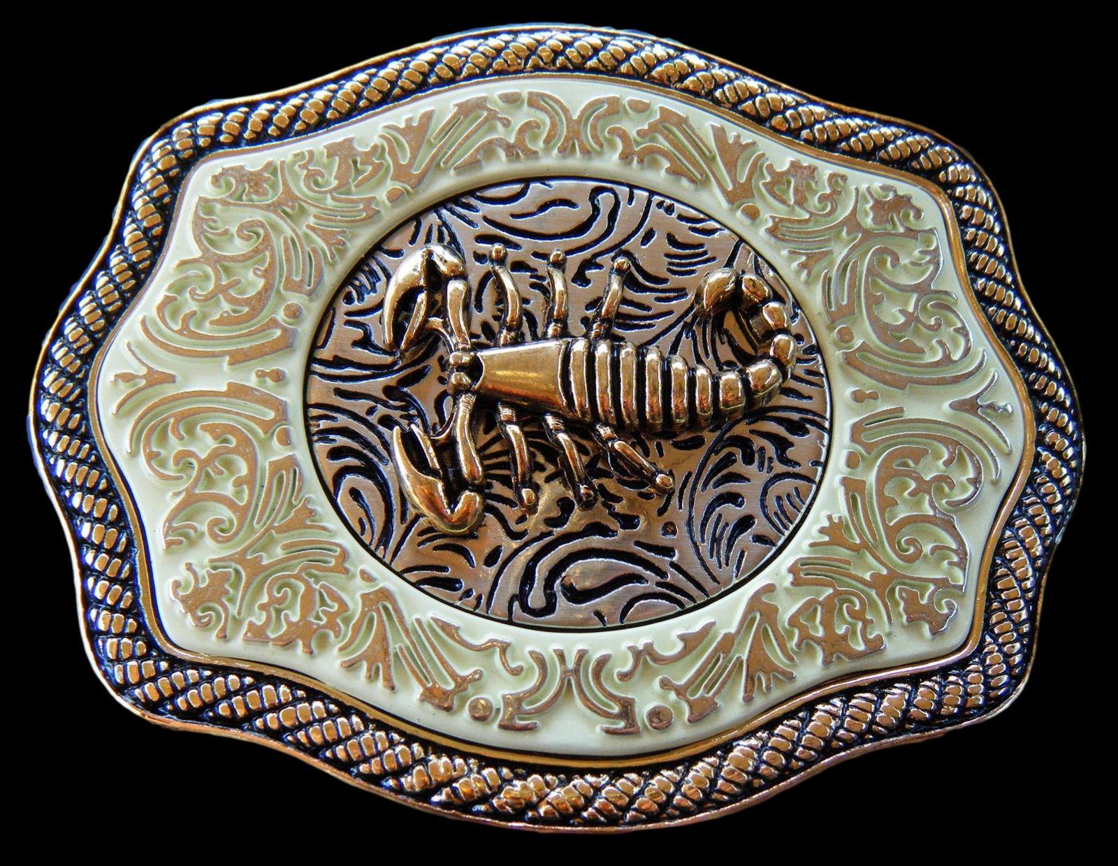 Big Scorpion Belt Buckle Zodiac Sign Cowboy Fashion Metal New Rodeo Mens Western