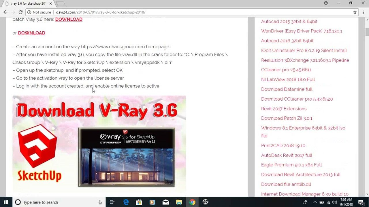 Vray 3 6 For Sketchup 2018 Autocad 2015 Autocad 2016 Autocad
