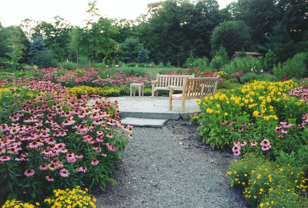 wild flower perennial garden with blue stone patio in rockland county ny wild flower perennial garden with stone patio in wesley hills rockland county - Flower Garden Ideas Illinois