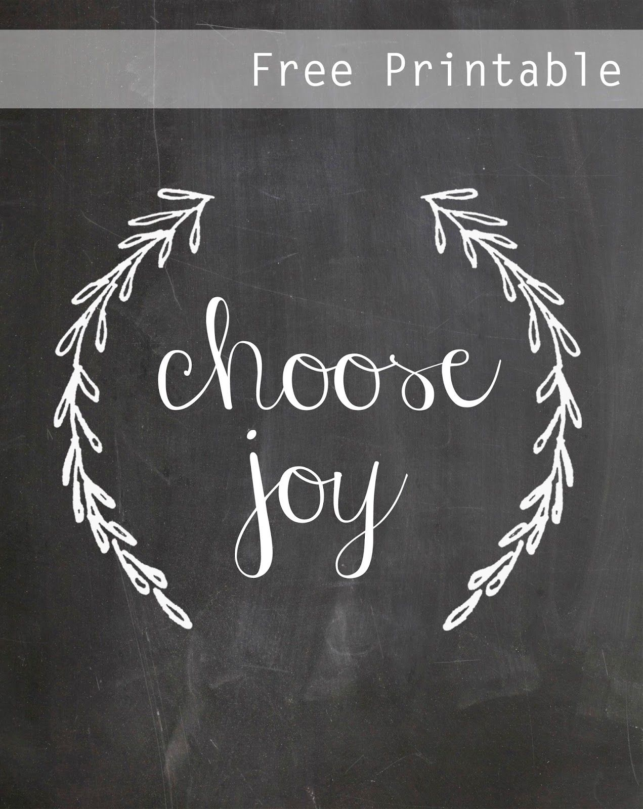 Choose Joy Free Chalkboard Printable