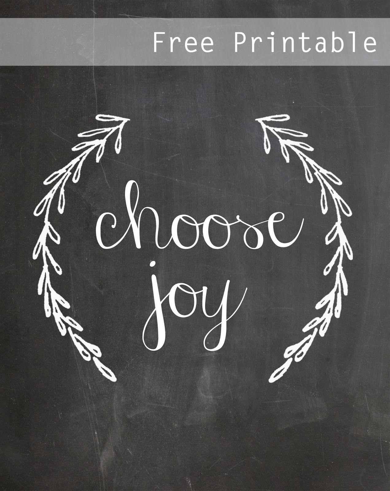 Choose Joy Free Chalkboard Printable