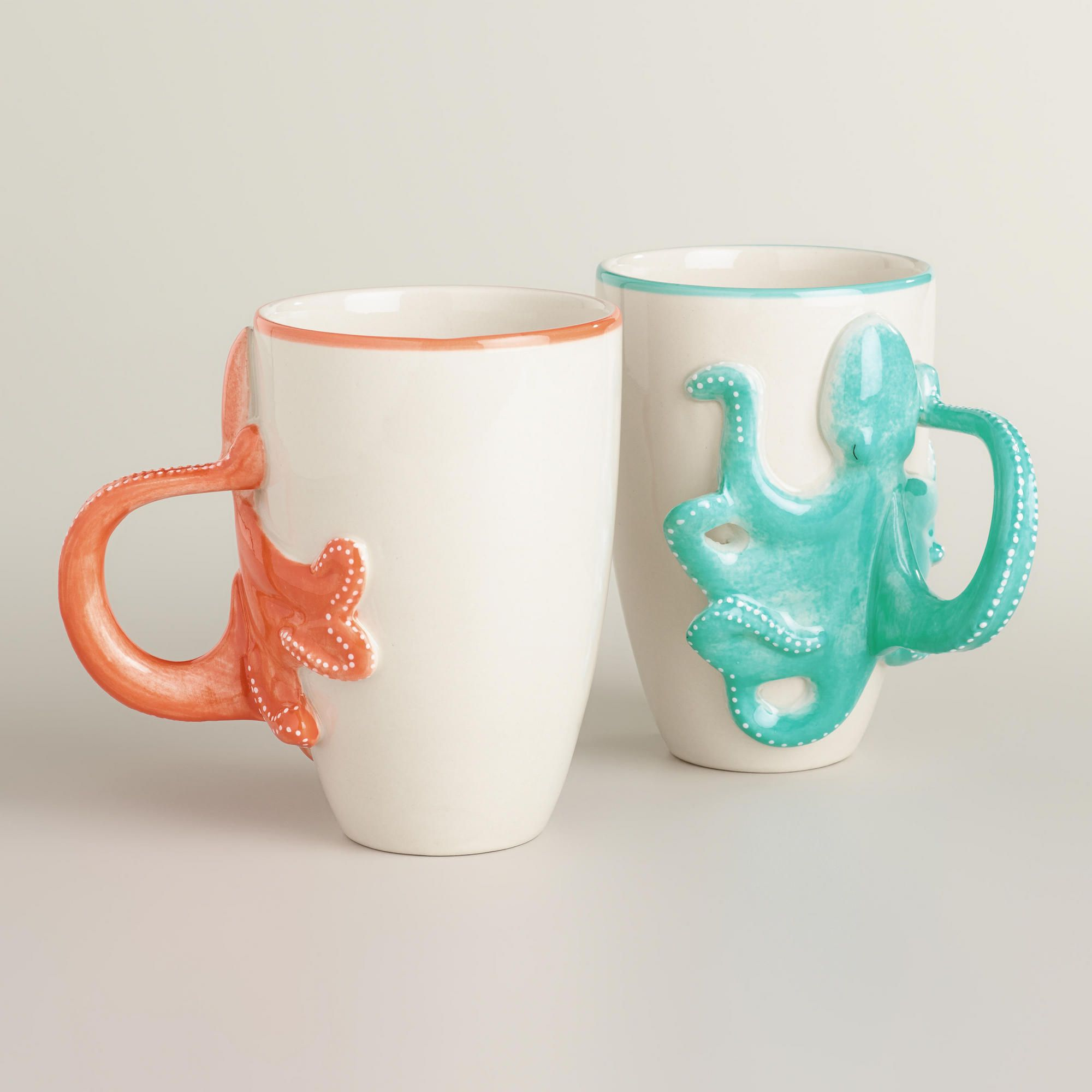 Lisa Parker Cartoon Octopus Handle Ceramic Mug