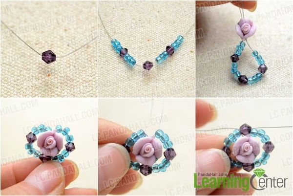 Make the first beaded loop jewelry tutorials pinterest beads make the first beaded loop aloadofball Image collections