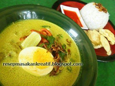 Resep Soto Ayam Kuah Santan Bumbu Kuning Resep Resep Masakan Indonesia Resep Masakan