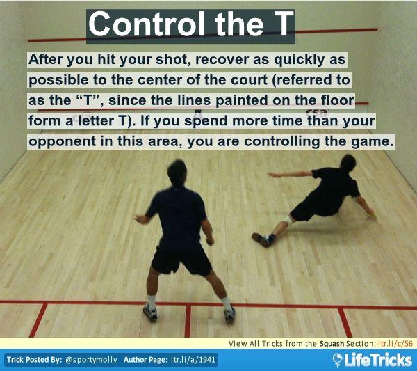 Squash - Control the T | Squash rackets, Squash game, Squash