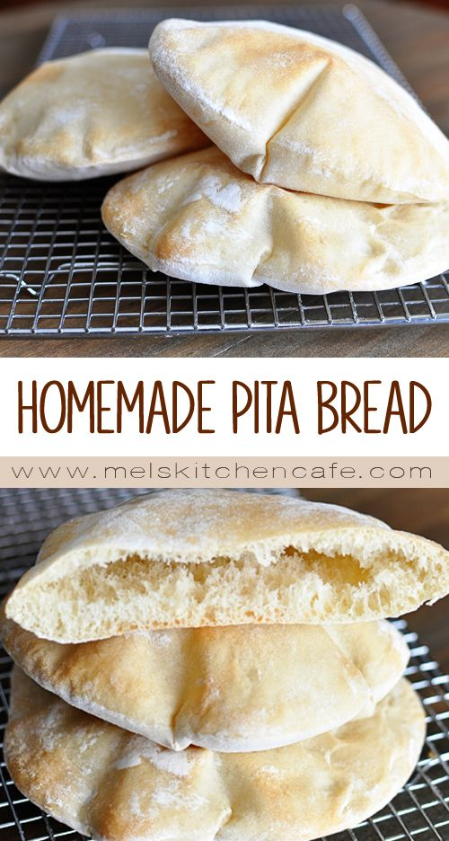 Pita Bread Recipe Homemade Simple Mel S Kitchen Cafe Recipe Homemade Pita Bread Bread Recipes Homemade Homemade Bread