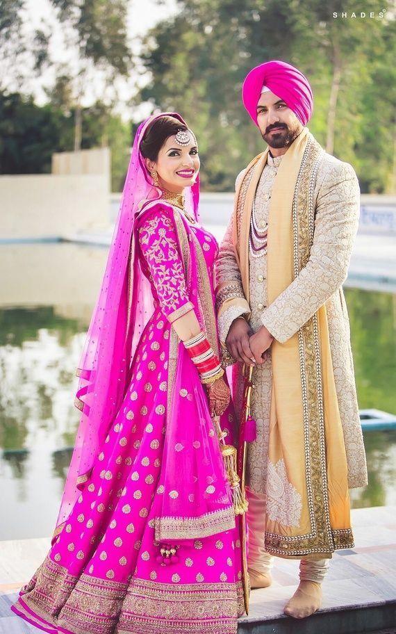 Fantástico Vestido De Novia Punjabi Componente - Ideas de Estilos de ...