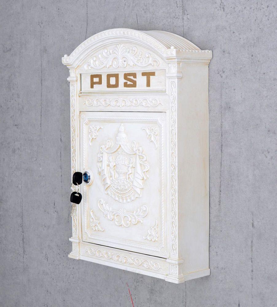Briefkasten mit Zeitungsfach Postkasten Postbox+Zeitungsrolle Mailbox Briefbox