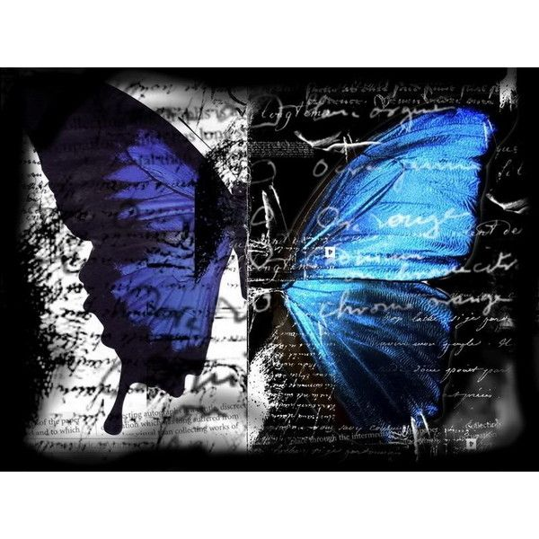 Free Gothic Butterfly Blue Wallpaper