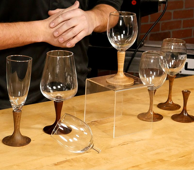 Woodturning Article Turning Wineglass Stemware from Craft Supplies - maison du tournage occasion