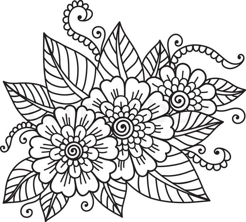 mexican flowers coloring pages - photo#7