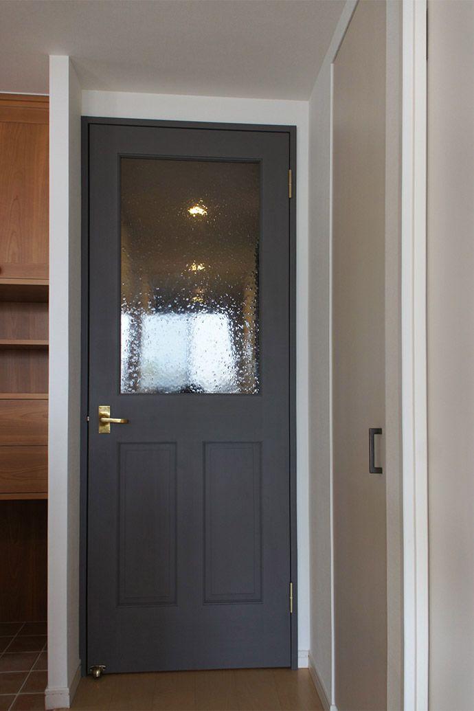 カラー塗装 木製ドア リノベーション ドア 室内ドア リビングドア