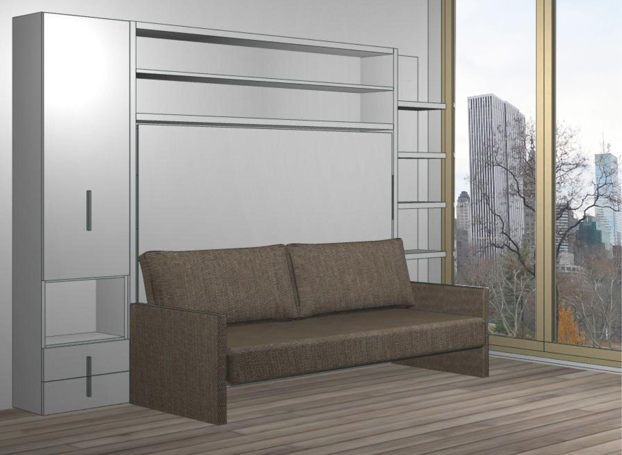 Quick Ship Circe Sofa Bed wall, Wall bed, Wall bed systems