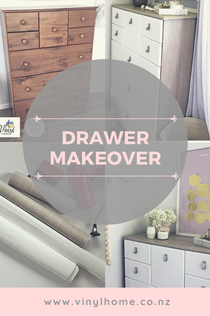 Drawer Makeover By Clever Poppy Tallboy Chest Of Drawers Diy