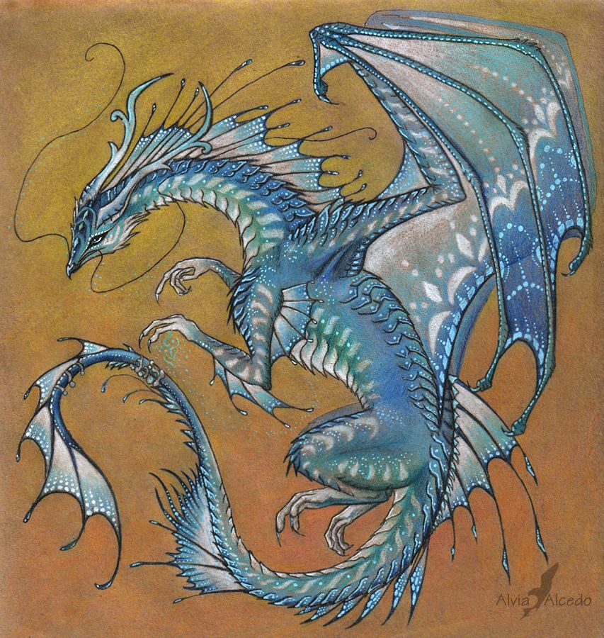 Blue Agate Dragon By AlviaAlcedo.deviantart.com On