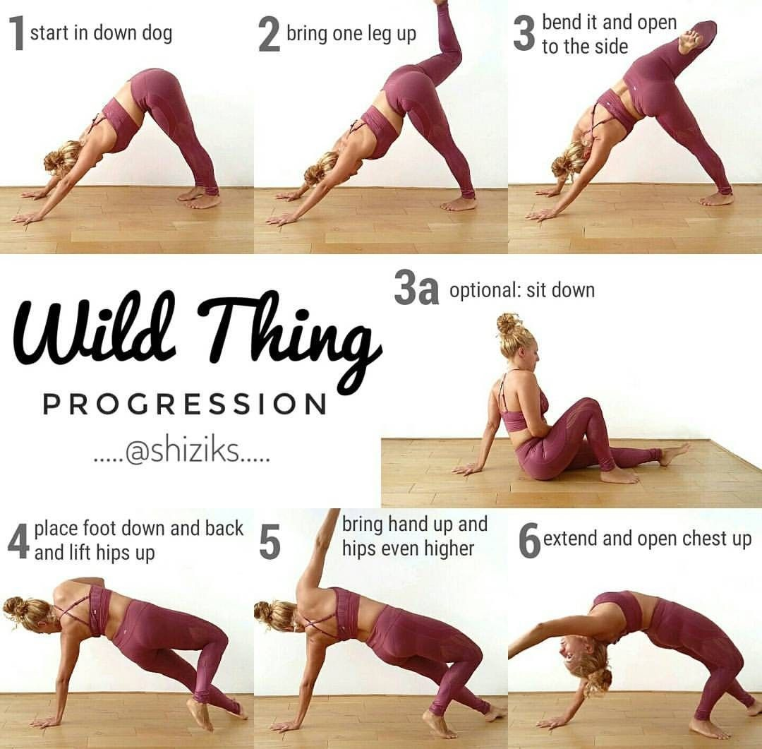 Wild thing progression guide by Instagrammer shiziks  Yoga