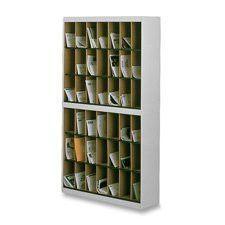 Kwik-File Vertipocket Vrtcl Srtr, 42 Pckts, 37 3/4w X 12 3/4d X 71h, Pebble Gry