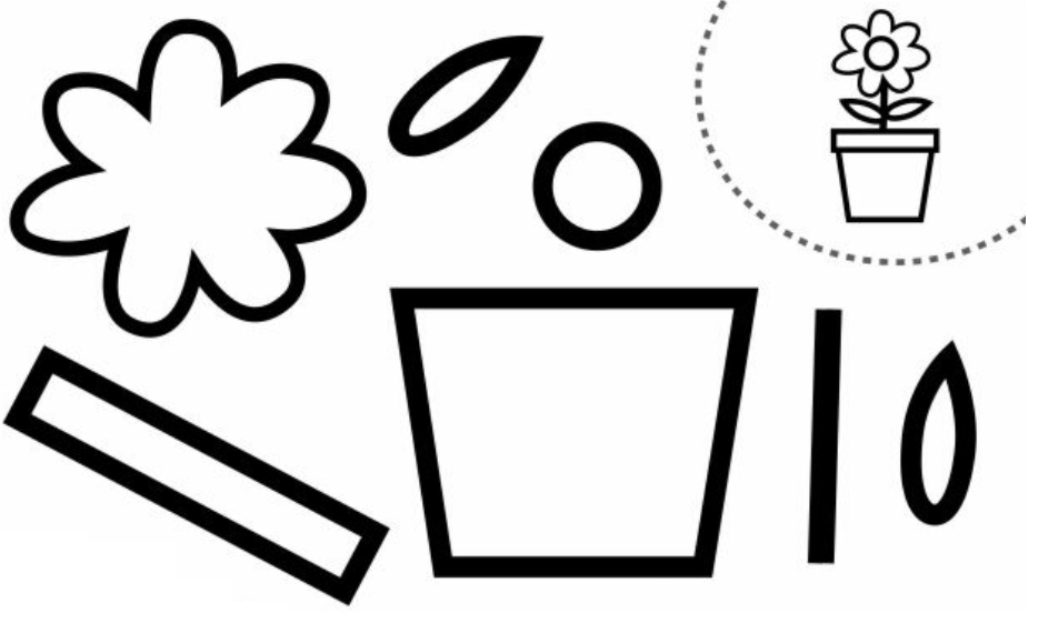 Kes Yapıştır Saksıda çiçek Okul öncesi Etkinlikleri Preschool