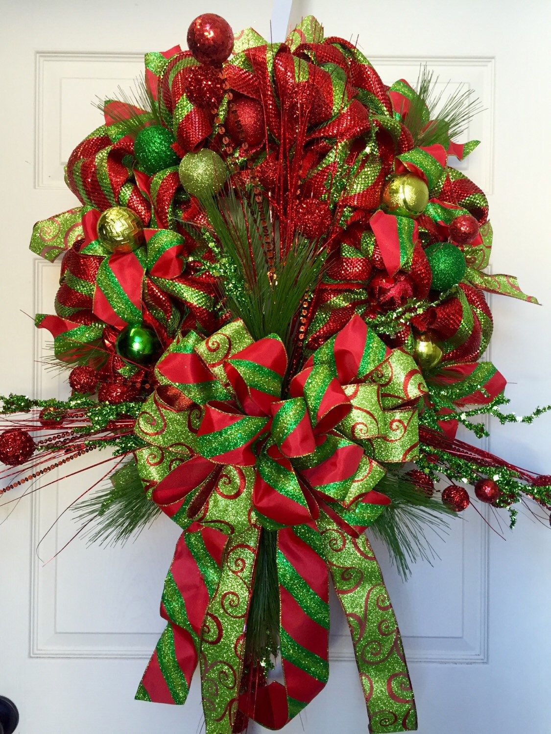 christmas mesh wreath by williamsfloral on etsy httpswwwetsycom - Christmas Mesh Wreath Ideas
