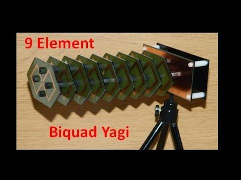 Long Range Biquad Yagi Antenna - YouTube | RF Antenna