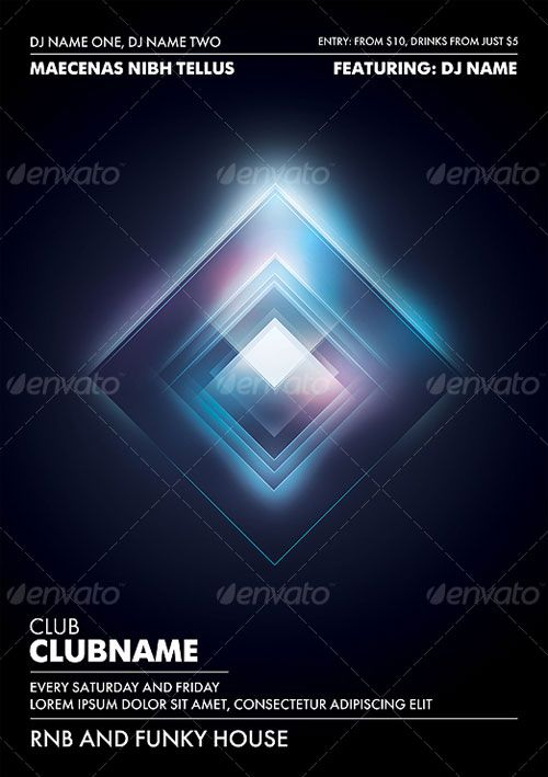 Stunning Nightclub Poster Flyer Template With Images Flyer