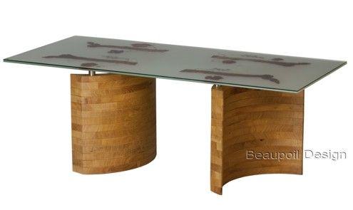 Designer Esstisch designer esstisch aus glas und edlem holz außergewöhnliche designer