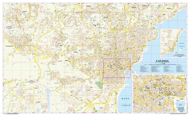 Catania Town Map Italian Towns Maps Pinterest