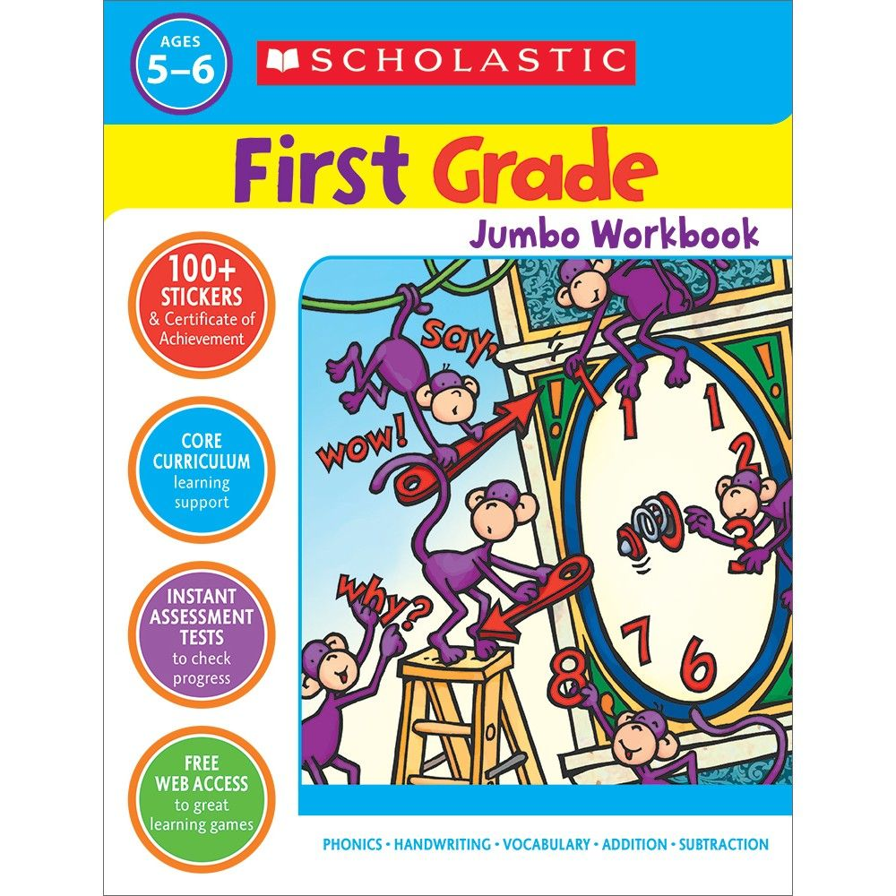 Scholastic Jumbo Workbook, Grade 1 | Products in 2019 | Math