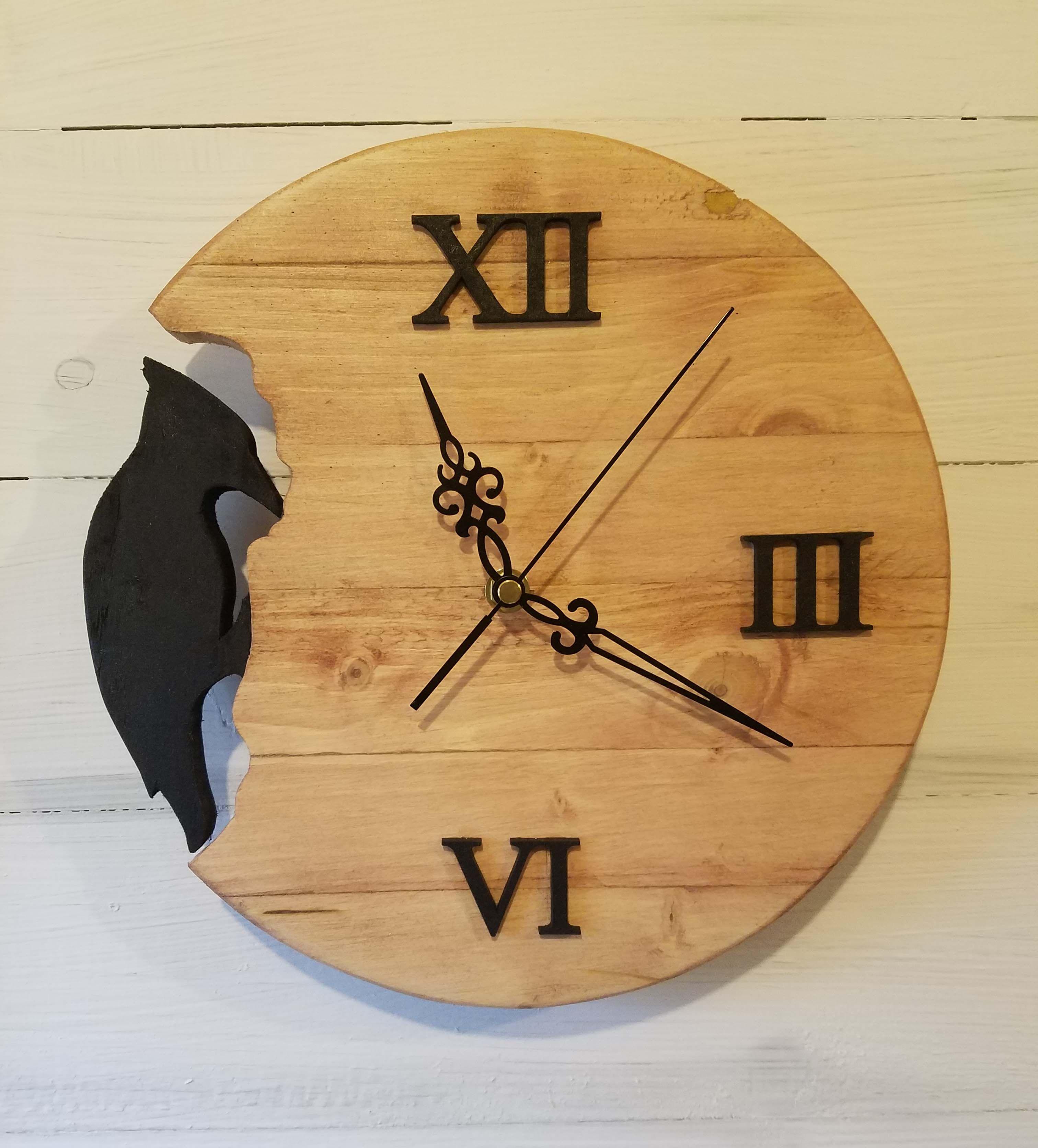 Woodpecker Wall Clock Handmade From Reclaimed Wood 28cm In Diameter Silent Quartz Movement Woodenclock Clocks Homedecor Wa In 2020 Wall Clock Clock Wooden Clock