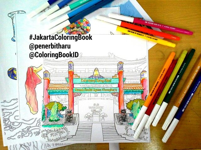 Coloringbook Bukumewarnaidewasa Jakartacoloringbook Betawi Jakarta Jakartaindonesia Indonesia Jkt Ilovejakarta Museumfatahillah Adultcoloringbook