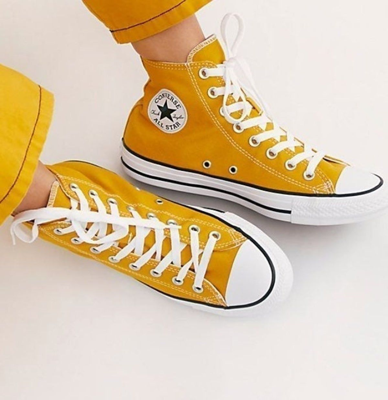 NWOB all star converse mustard yellow | Yellow converse, Yellow ...
