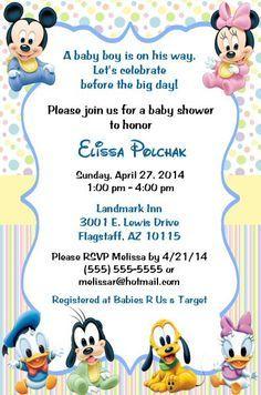 Disney Baby Shower Invitations By Qualitydesignskathy On Etsy