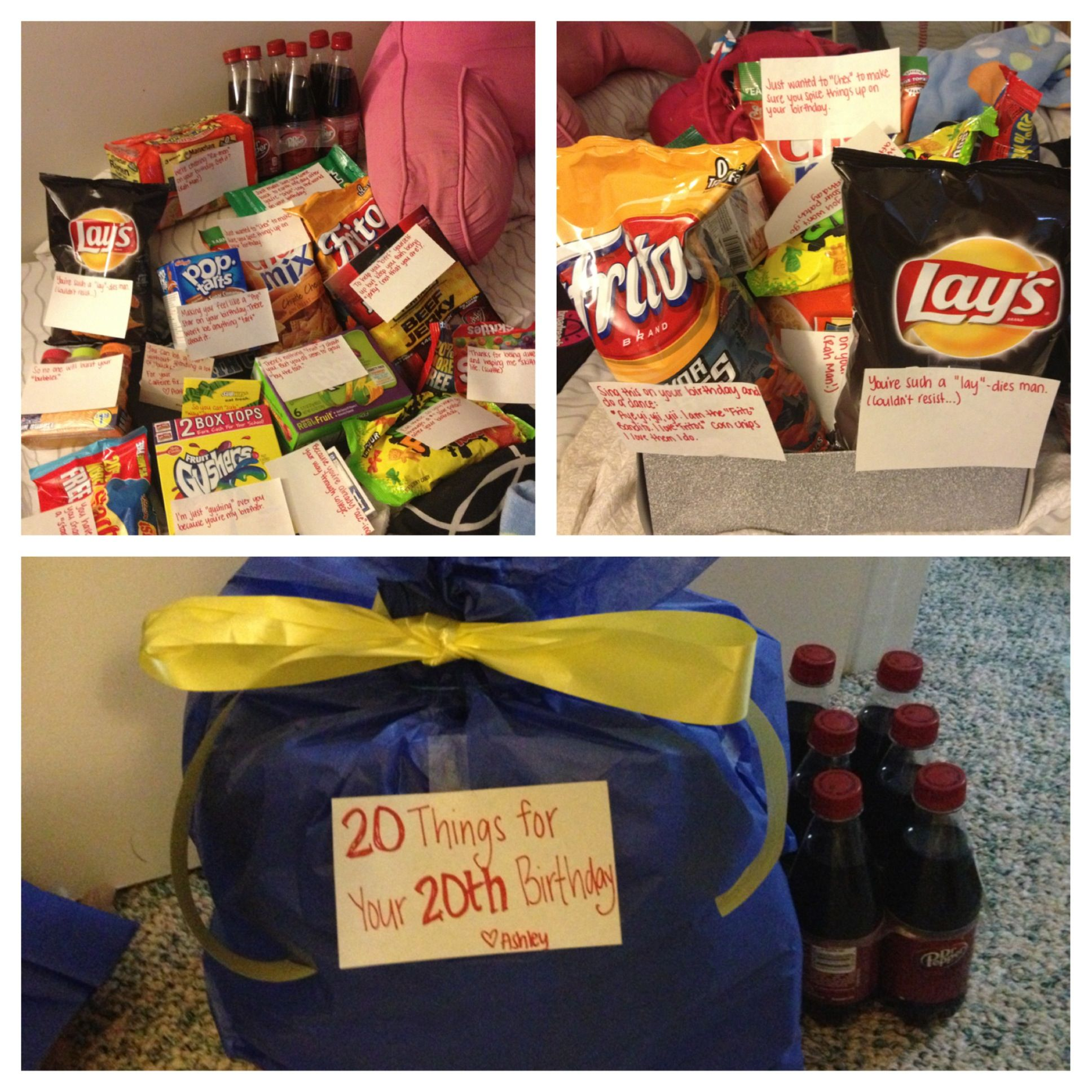"""My gift to my brother for his 20th birthday. """"20 Things"""