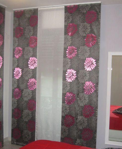 tenda doppia a pannello con fiori  Tende da interni, serramenti ed ...