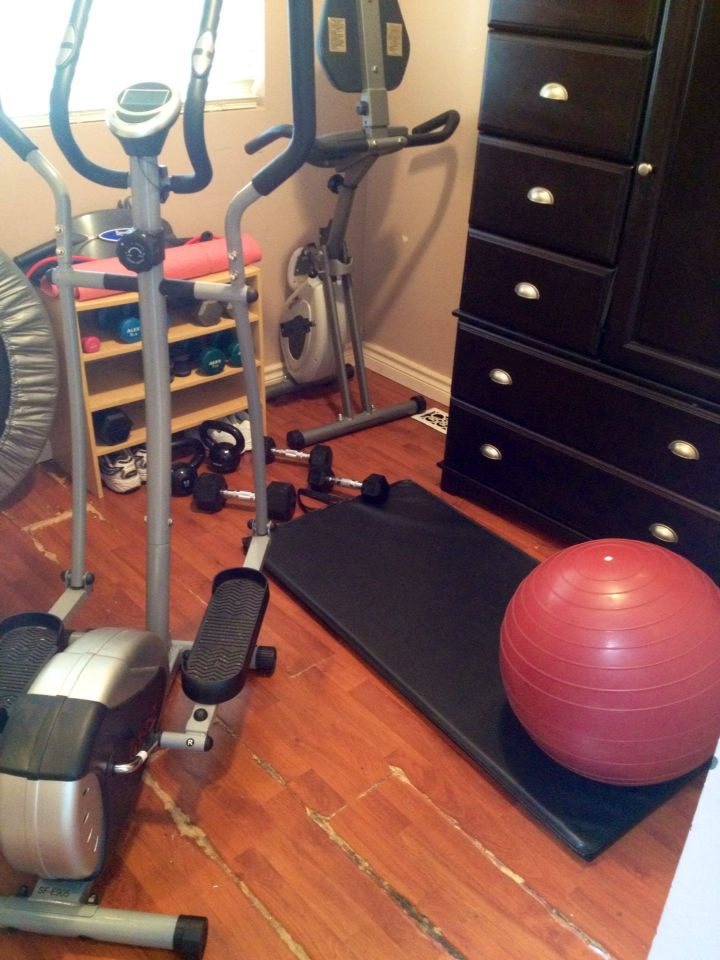 Now this is a small gym i finally misdeeds a guest room home