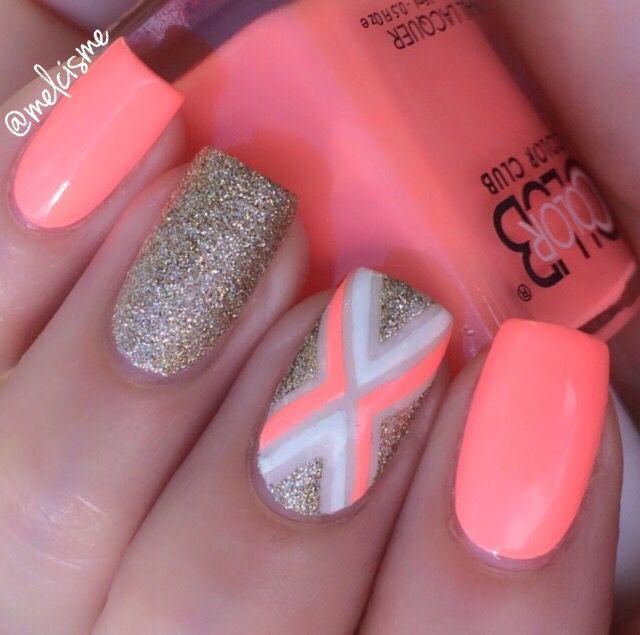 Color nails · Super bright X design - Super Bright X Design Nails Pinterest Bright, Nail Nail And