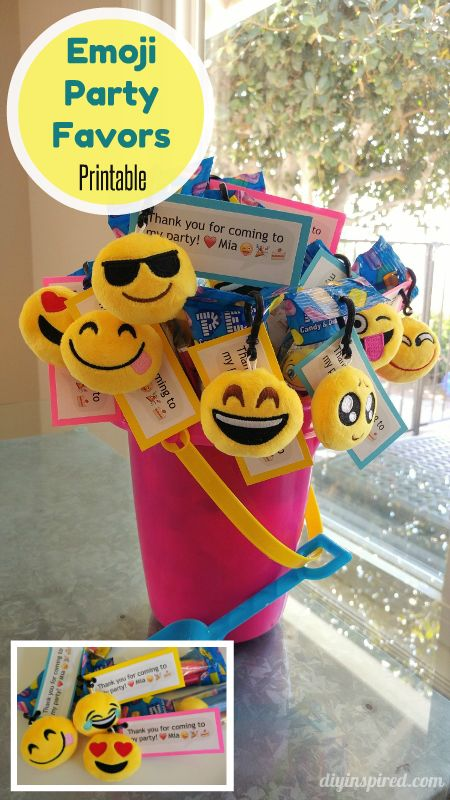 Emoji Party Favors With FREE Printable