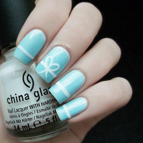 Light Blue Bow Nail Designs - Light Blue Bow Nail Designs Nail Designs Pinterest Bow Nail