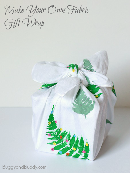 How to make your own reusable gift wrap from fabric (Also know as Furoshiki)~ BuggyandBuddy.com