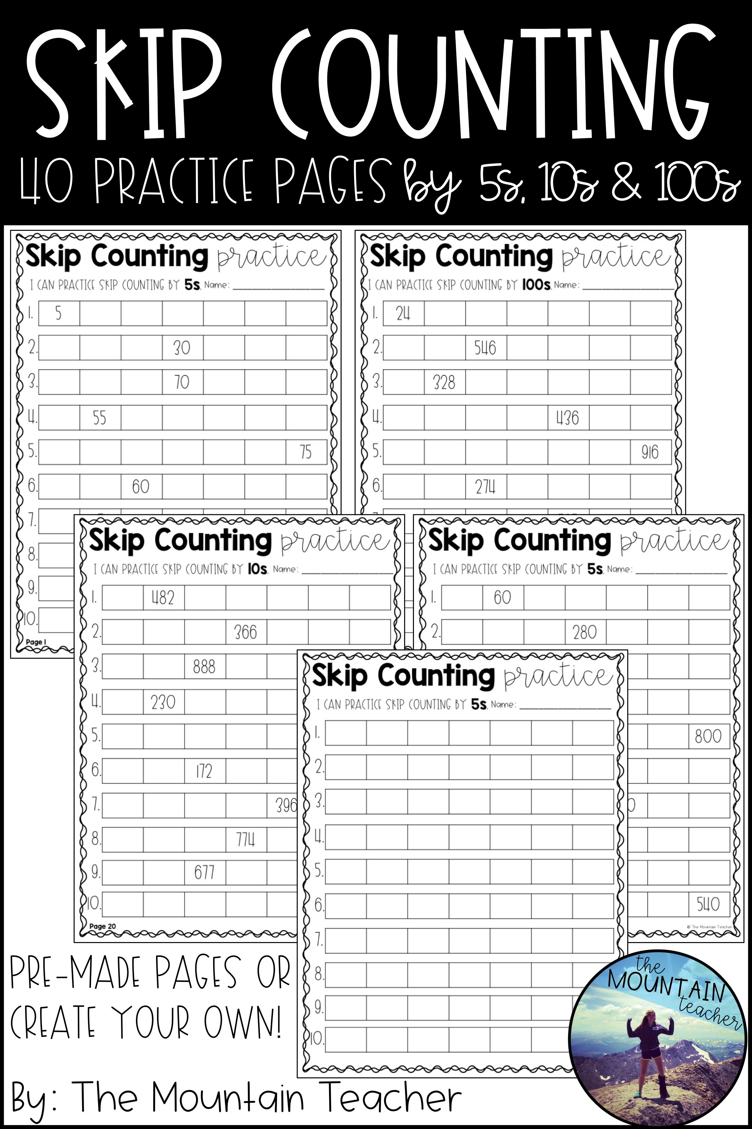 Skip Counting By 5s 10s And 100s