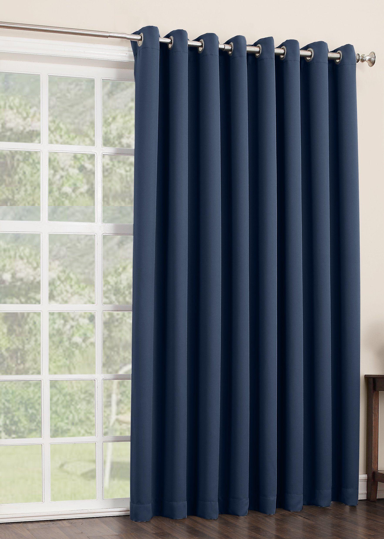 Sun Zero Easton Extra Wide Blackout Patio Curtain Panel 100 By 84