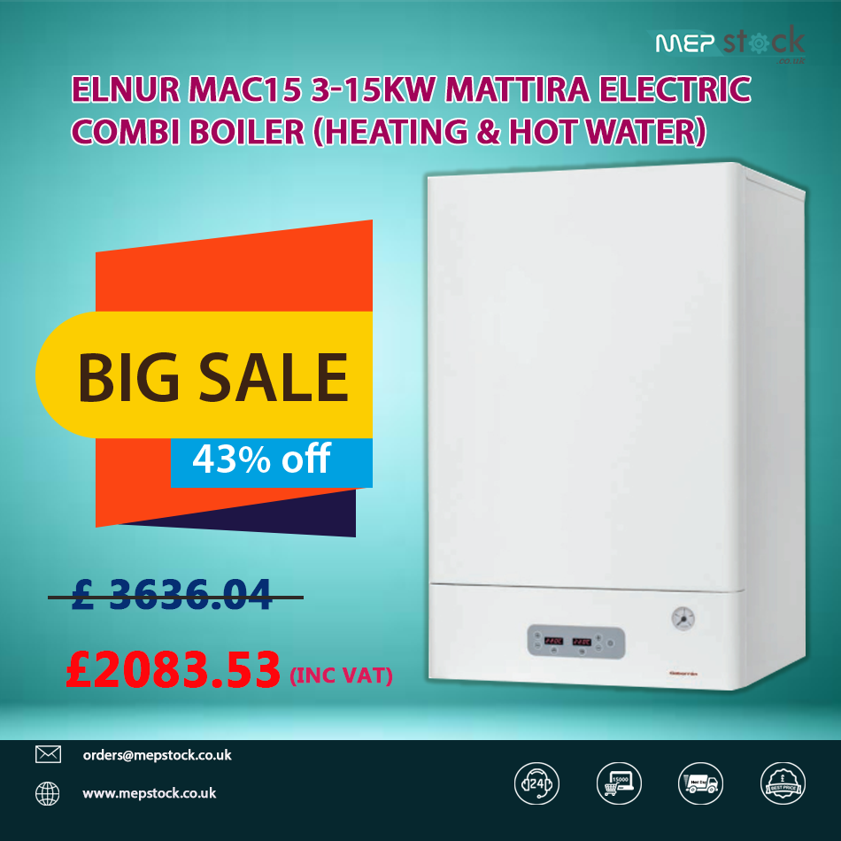 Don T Miss This Crazy Deal Get Flat 43 Discount On Elnur Mac15 3 15kw Mattira Electric Combiboiler Get This Deal On Boiler Electricity Hot Water