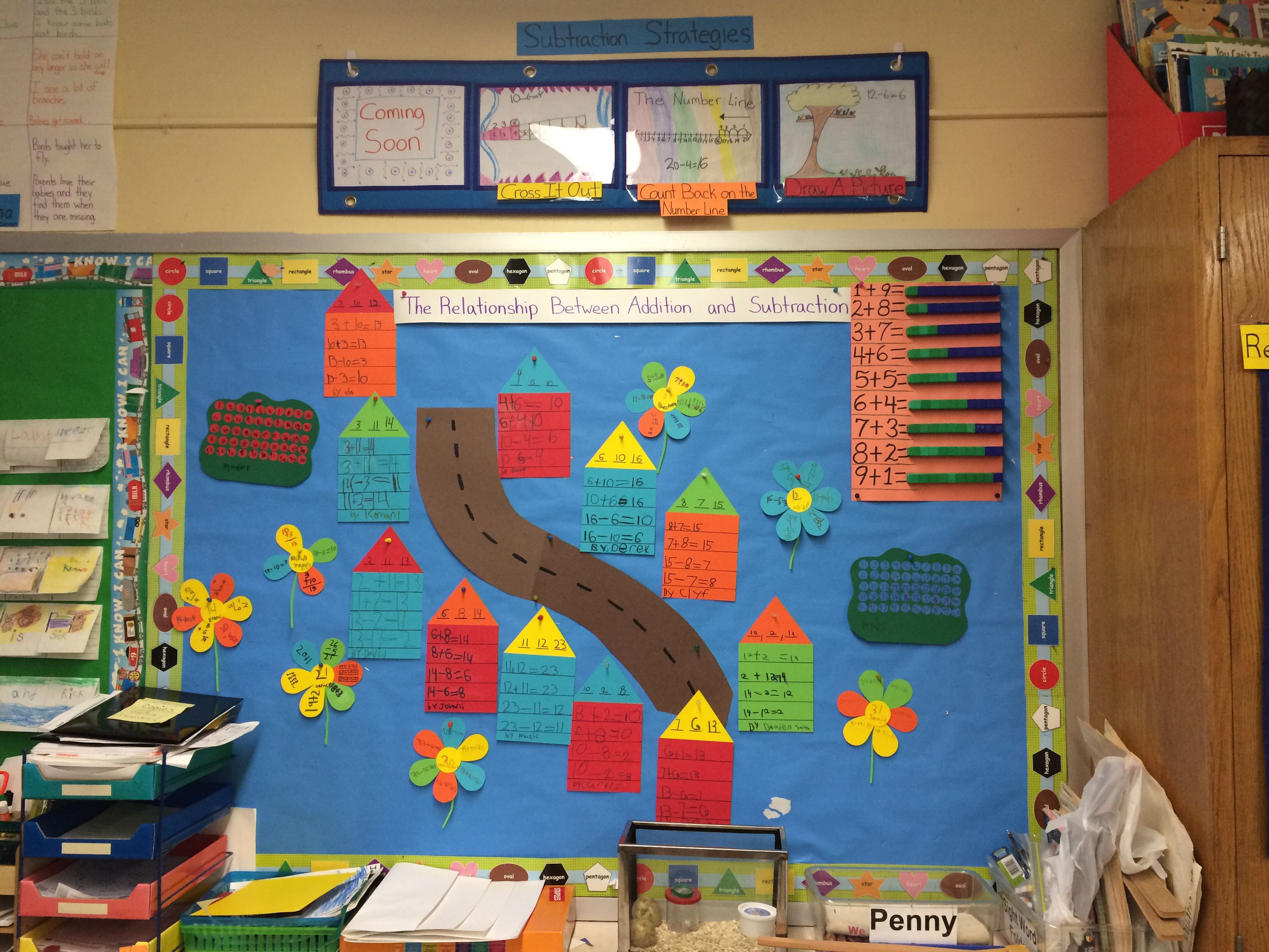 differentiated related number fact bulletin board fact family